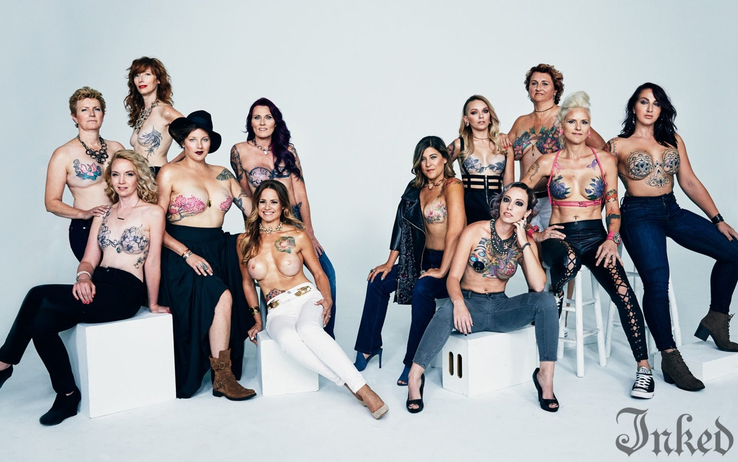 12 Women With Breast Cancer Survivor Tattoos Pose in a Powerful Photo Series
