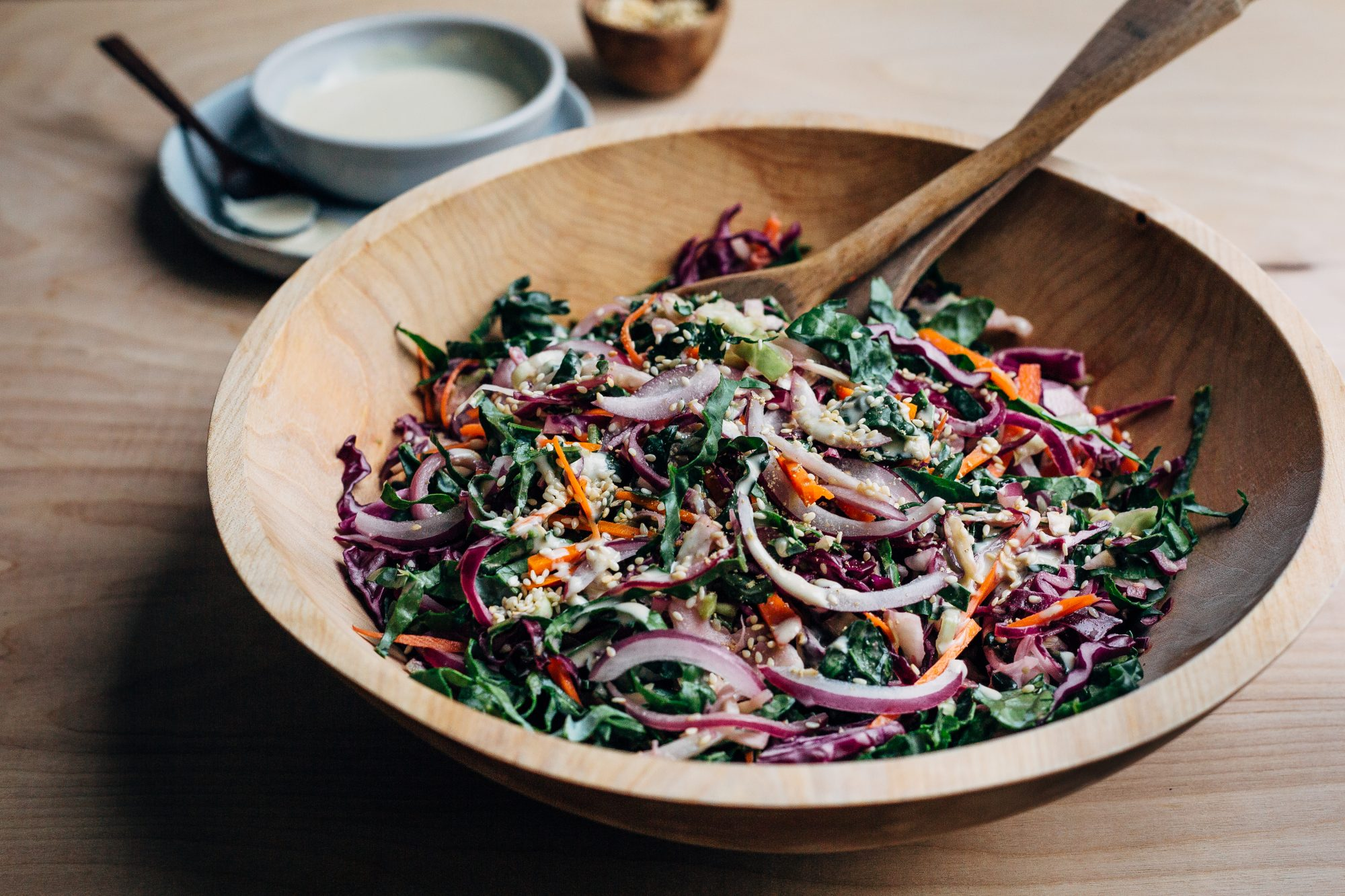This Colorful Lemon-Tahini Veggie Slaw Makes Meal Prep Easy