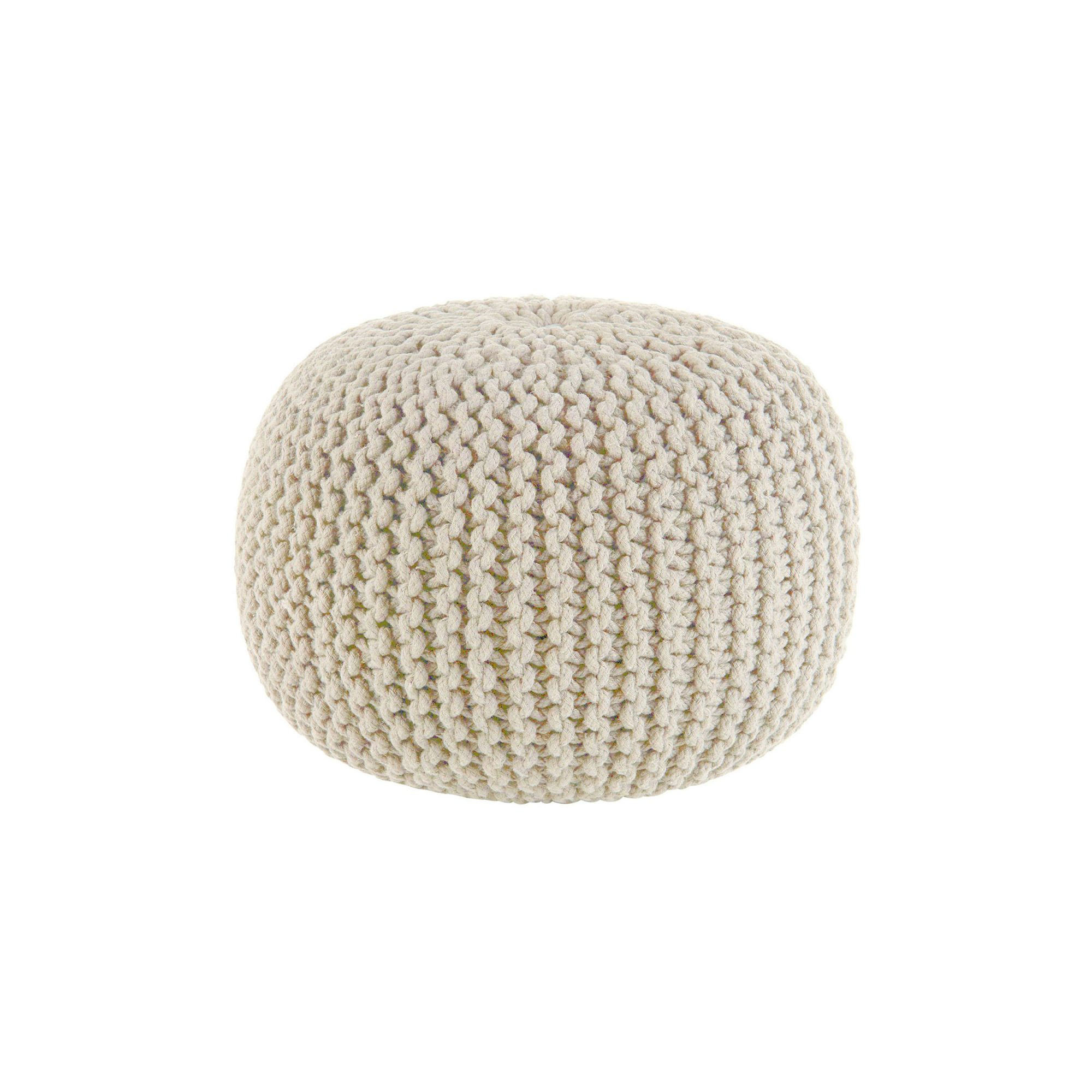 <p>Hand Knitted Cable Style Dori Pouf</p>