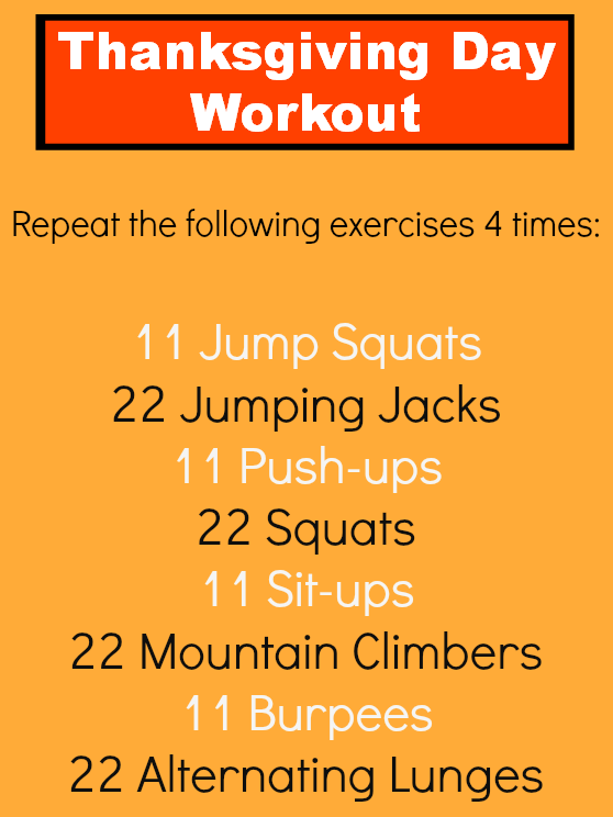 Your Quick Thanksgiving Day Workout
