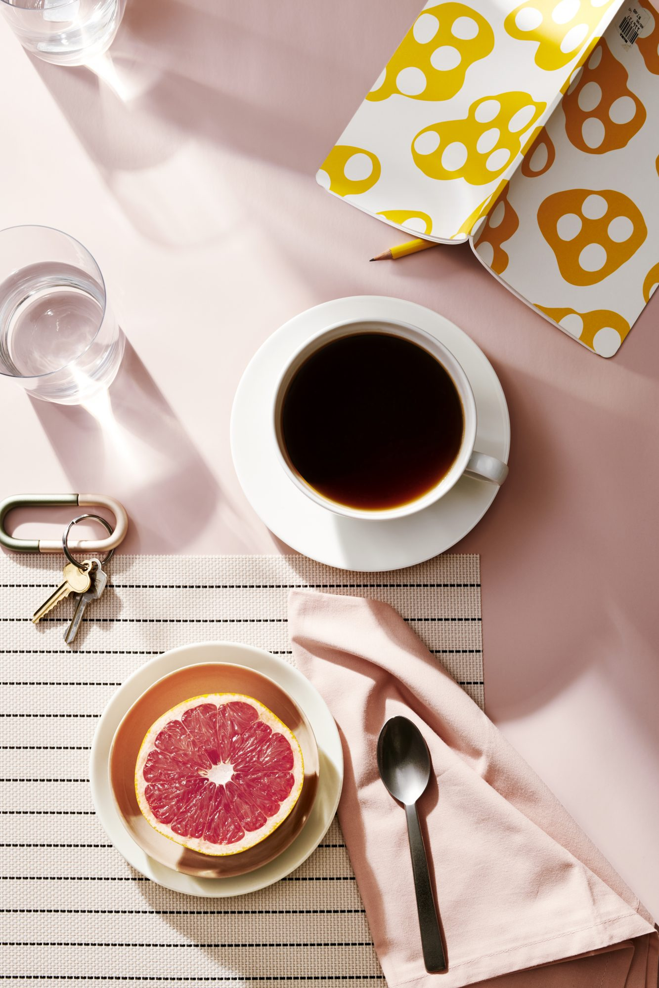 Rise and Shine morning person sleep coffee grapefruit still life health rest relax stress woman women busy