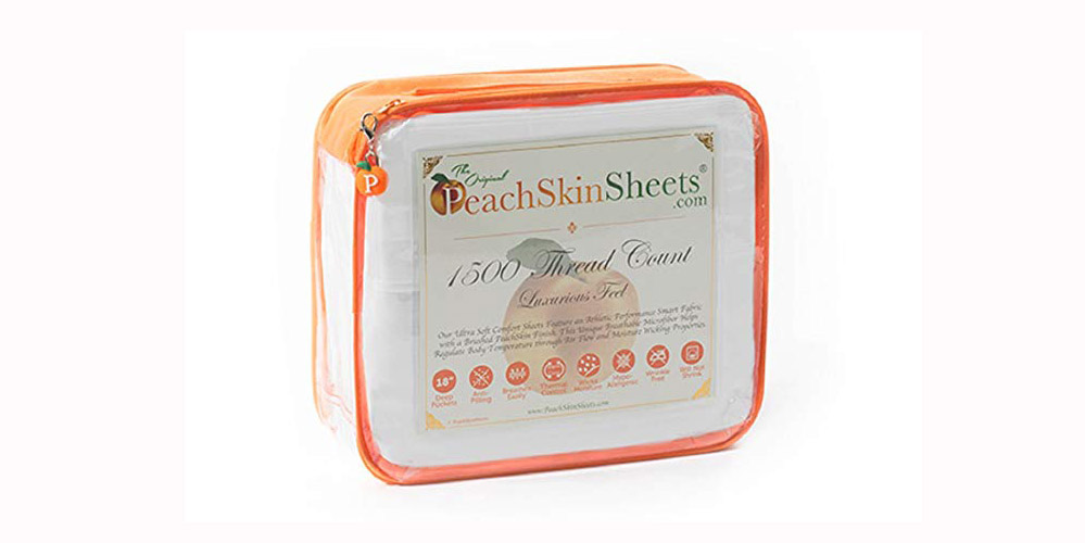 PeachSkinSheets Night Sweats Sheet Set