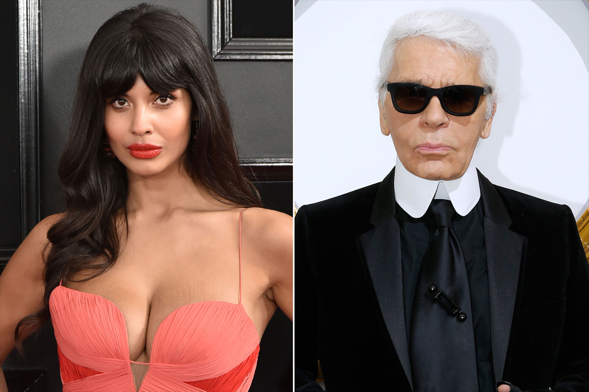 Jameela Jamil Calls Karl Lagerfeld a 'Ruthless, Fat-Phobic Misogynist' Following His Death