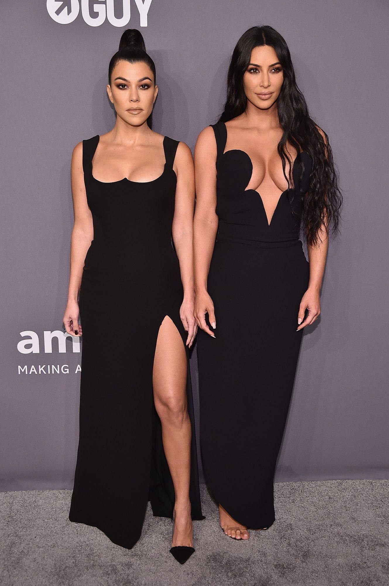 Kim and Kourtney Kardashian Look Unrecognizable as They Try Trendy but Bizarre New Face Masks