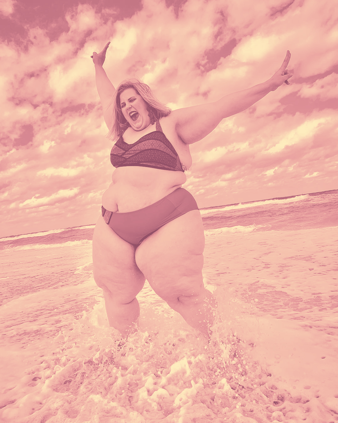 This Plus-Sized Model's Bikini Pic Is Sparking Controversy on Twitter