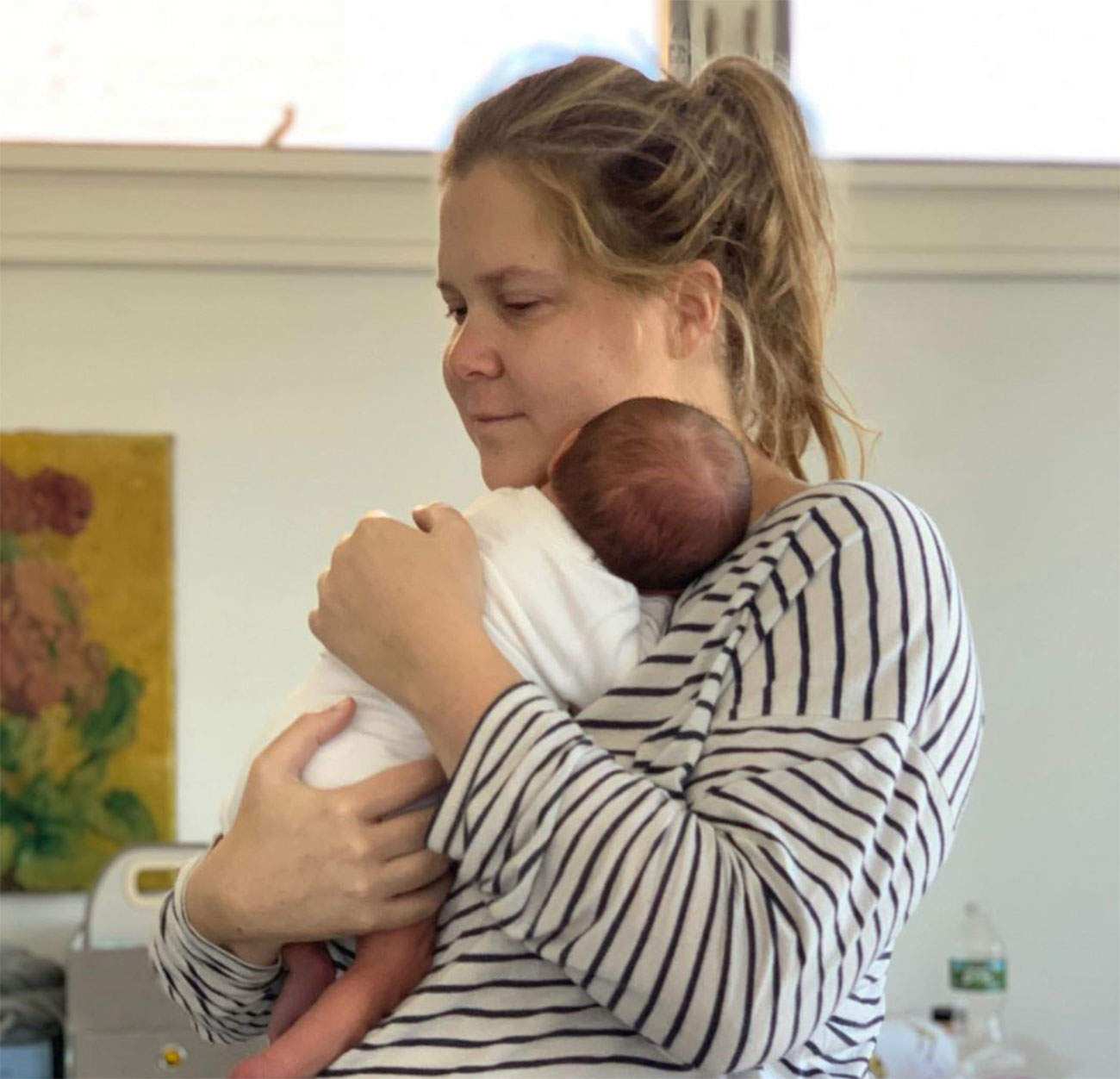 Amy Schumer Posts Photo of Herself Pumping After Birth