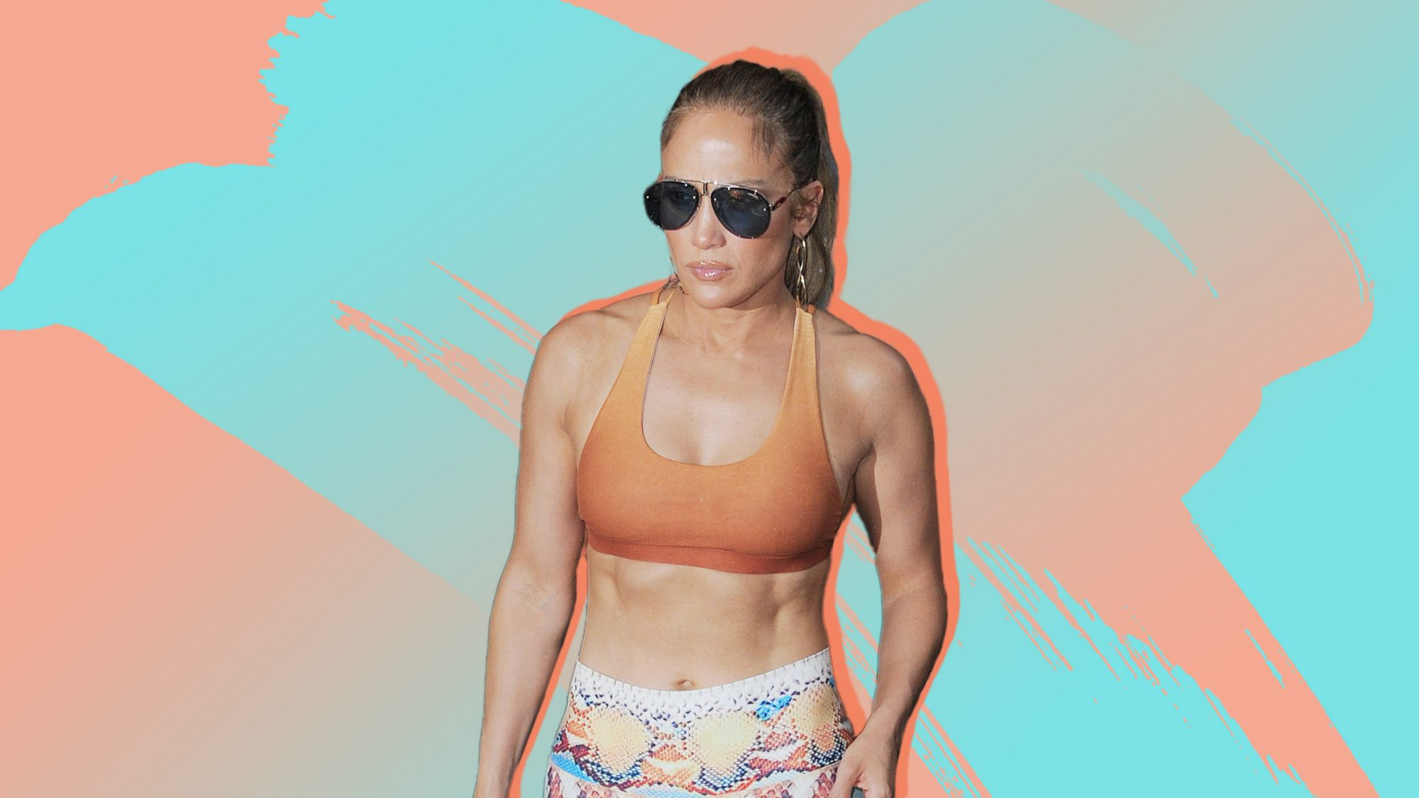 J. Lo's Abs Are On Fire in This Super Sweaty Gym Selfie