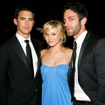 Milo Ventimiglia, Kristen Bell, B.J. Novak, Governor's Ball, 2007 Emmys After-parties