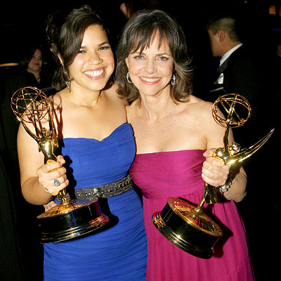 America Ferrera, Sally Field, Governor's Ball, 2007 Emmys After-parties