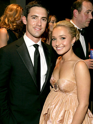 Milo Ventimiglia, Hayden Panettiere, Governor's Ball, 2007 Emmys After-parties