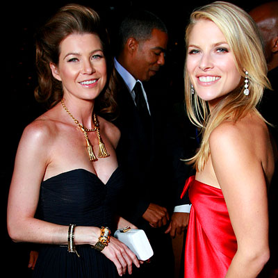 Ellen Pompeo, Ali Larter, Entertainment Tonight/People magazine party, 2007 Emmys After-Parties