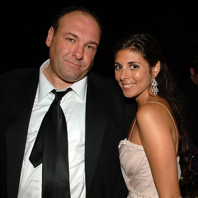 James Gandolfini, Jamie-Lynn Sigler, HBO after-party, 2007 Emmys After-parties