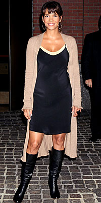 Halle Berry, Calypso, Minnie Rose, L'Autre Chose, Lorraine Schwartz, dress, boots, sweater