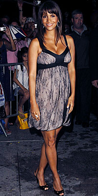 Halle Berry, Galliano, pregnant, maternity style, celebrity style, pregnant celebrities