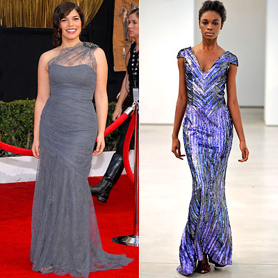 America Ferrera, Monique Lhuillier, L'Wren Scott, Emmy fashion