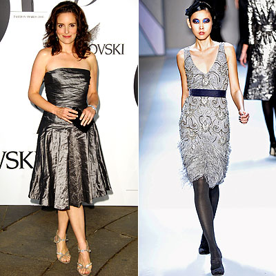 Tina Fey, Monique Lhuillier, Ralph Lauren Black Label, Emmy style