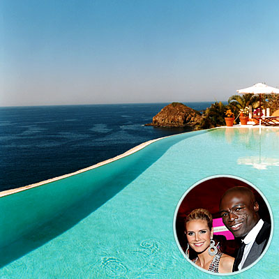 Heidi Klum and Seal's Pool, Celebs' Favorite Room