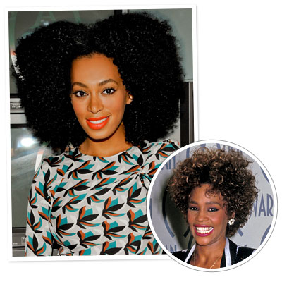 Whitney Houston - Solange Knowles - Afro Hair - Black Hairstyles