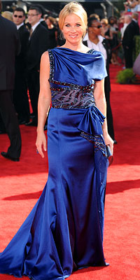 Blue Hues: Christina Applegate - Basil Soda - Star Fashion Trends at the 2009 Emmy Awards