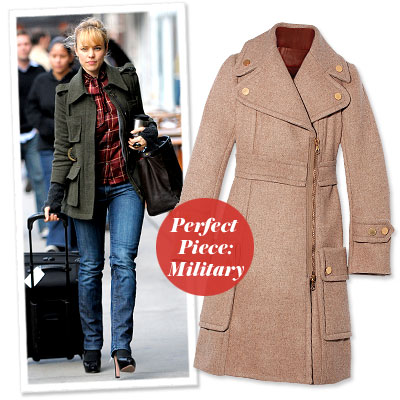 Rachel McAdams - Find Your Most Flattering Coat - Narrow Shoulders