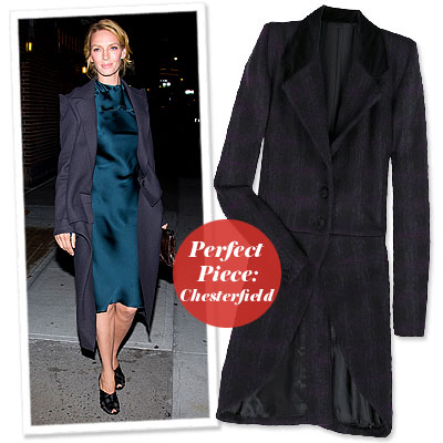 Uma Thurman - Find Your Most Flattering Coat - Full Bust