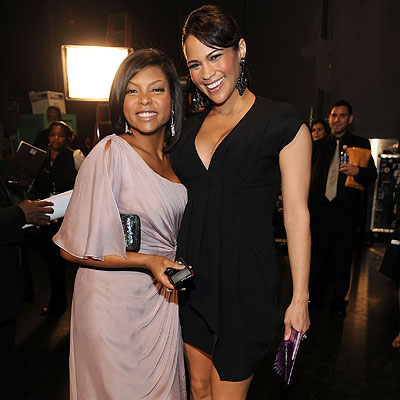 Taraji P. Henson and Paula Patton - 2010 People's Choice Awards