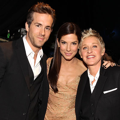 Ryan Reynolds, Sandra Bullock and Ellen DeGeneres - The 2010 People's Choice Awards