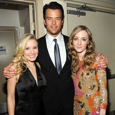 Parties - Kristen Bell in Prada, Josh Duhamel and Saoirse Ronan - The 2010 Critics' Choice Awards