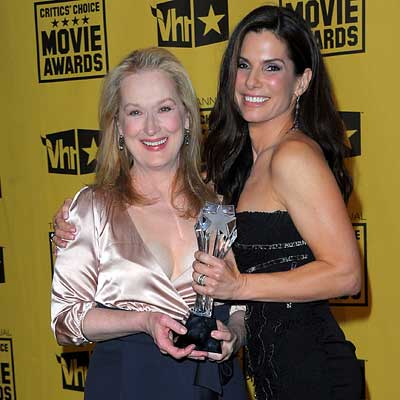 Parties - Meryl Streep and Sandra Bullock in Alberta Ferretti - 2010 Critics' Choice Awards