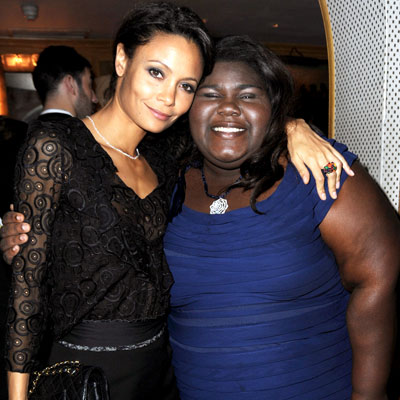 <p>Thandie Newton and Gabourey Sidibe</p>