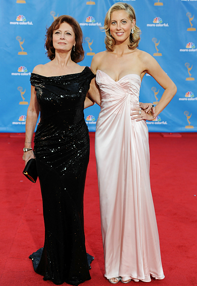 2010 Emmy Awards Fashion - Susan Sarandon and Eva Amurri