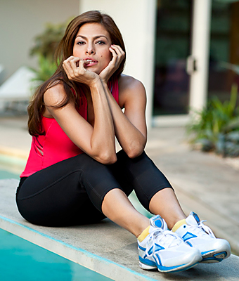 Eva Mendes' Workout Secret: Toning Shoes!