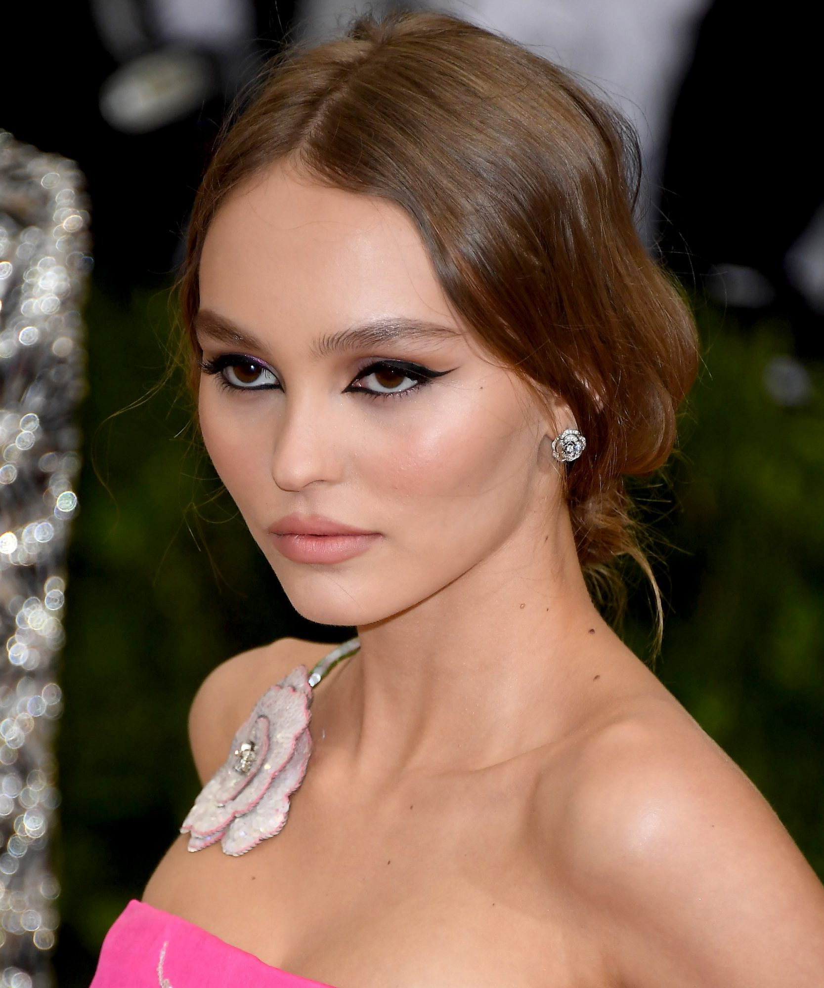 Lily-Rose Depp's Tousled Low Bun