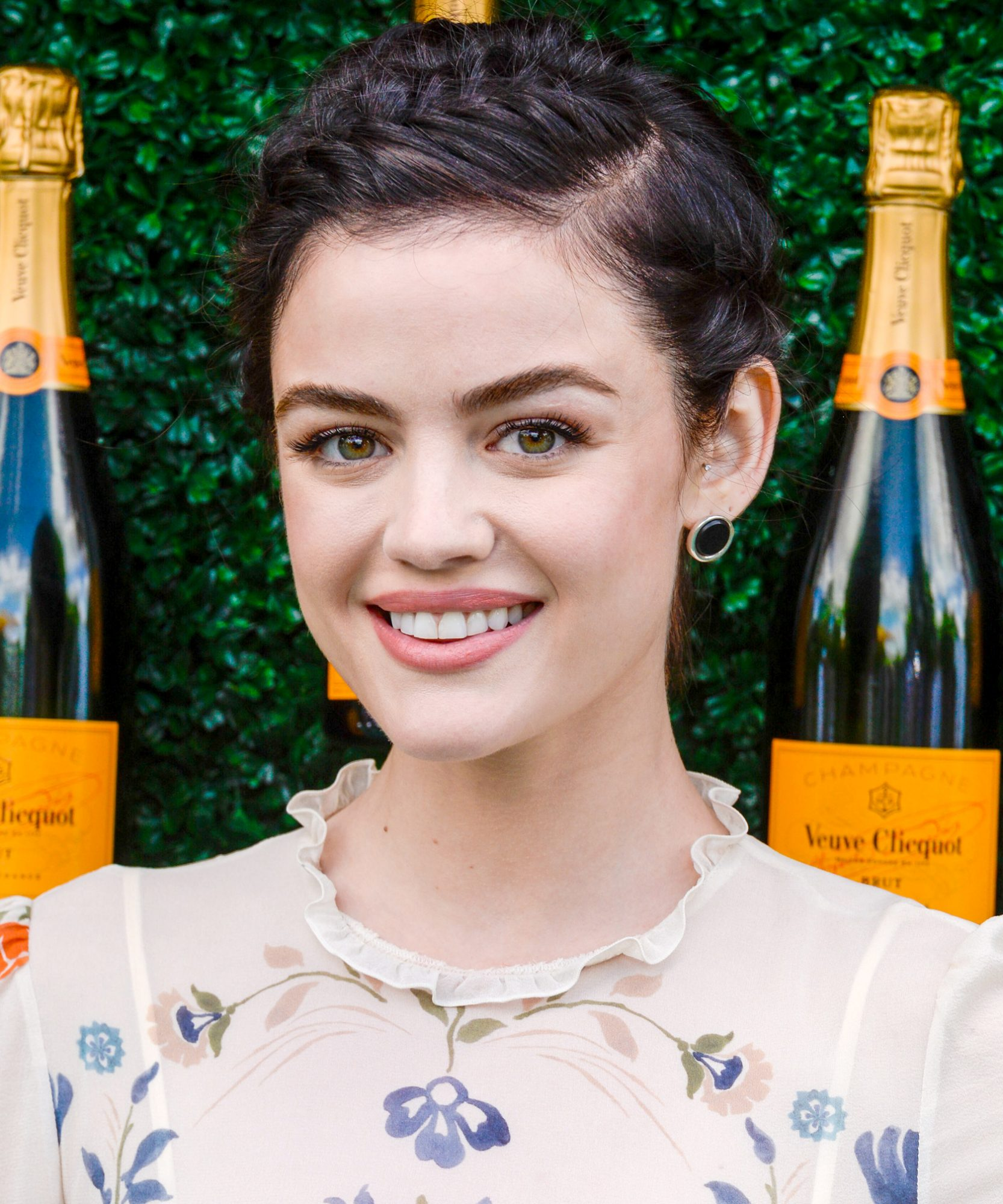 <p>Lucy Hale's French Braids</p>