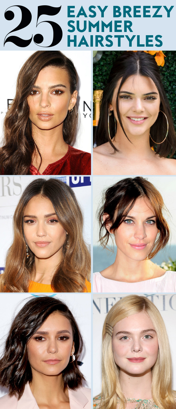 new simple hair style 25 easy hairstyles to wear for summer instyle 2881