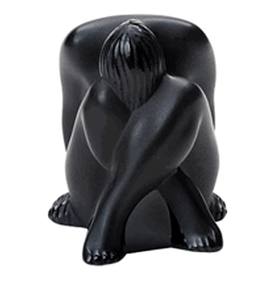 Lalique Nude Sitting Statue
