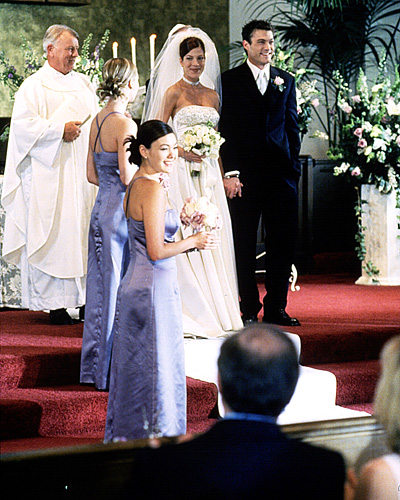 Beverly Hills 90210 wedding - Donna Martin and David Silver wedding - Tori Spelling and Brian Austin Green