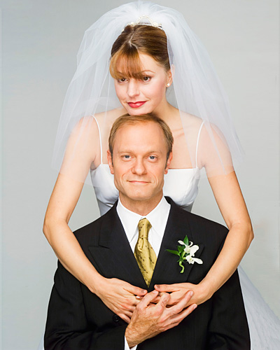 Daphne Moon and Niles Crane - Jane Leeves and David Hyde Pierce - Fraiser wedding