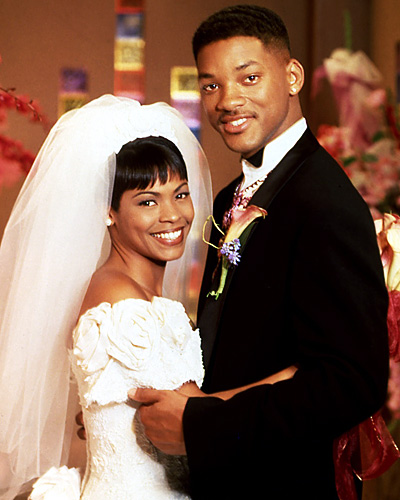Will Smith and Lisa Wilkes - Will Smith and Nia Long - The Fresh Prince of Bel Air wedding