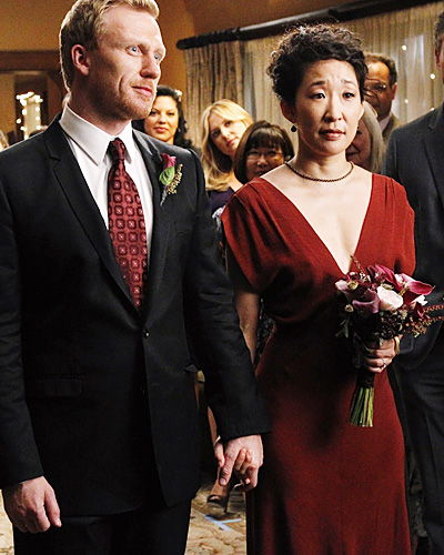 Grey's Anatomy wedding - Cristina Yang and Owen Hunt - Sandra Oh and Kevin McKidd