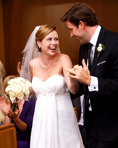 The Office wedding - Pam Beesly and Jim Halpert - Jenna Fischer and John Krasinski