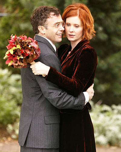 Miranda Hobbes and Steve Brady - Cynthia Nixon and David Eigenberg - Sex and the City Wedding