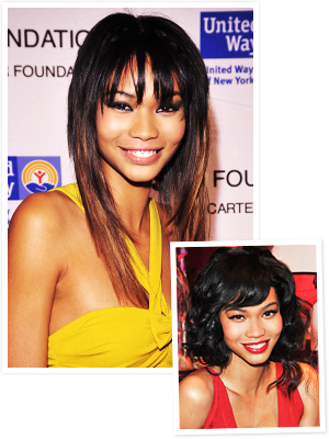 New Hairstyles 2012: Chanel Iman's Bangs!