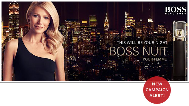 Gwyneth Paltrow Models for New Hugo Boss Perfume