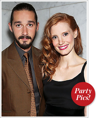 This Week's Parties: Jessica Chastain and Shia LaBeouf Get Lawless and More