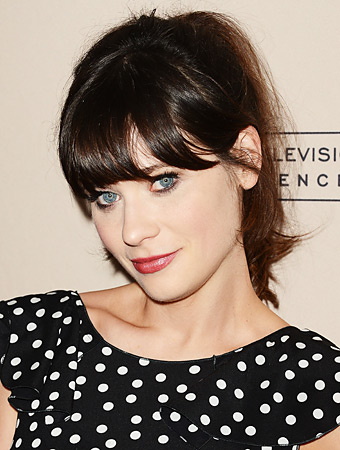 How to Get Frizz-Free Bangs Like Zooey Deschanel