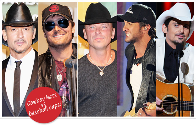 CMA Awards 2012 Poll: Baseball Caps or Cowboy Hats?