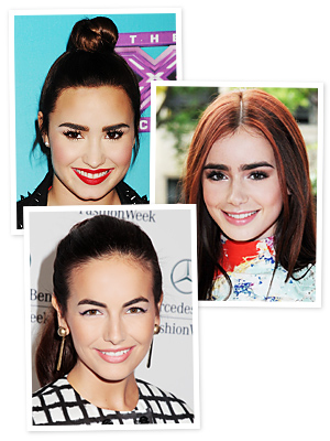 Demi Lovato, Lily Collins and Camilla Belle