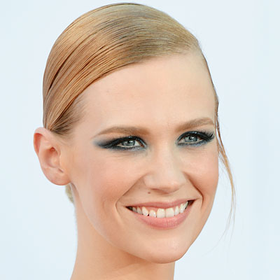 January Jones's Navy Smoky Eye