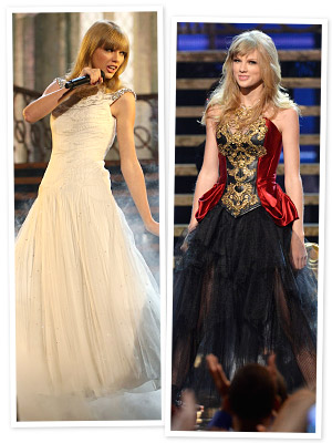 AMAs 2012: Which of Taylor Swift's Two Performance Looks Do You Prefer?